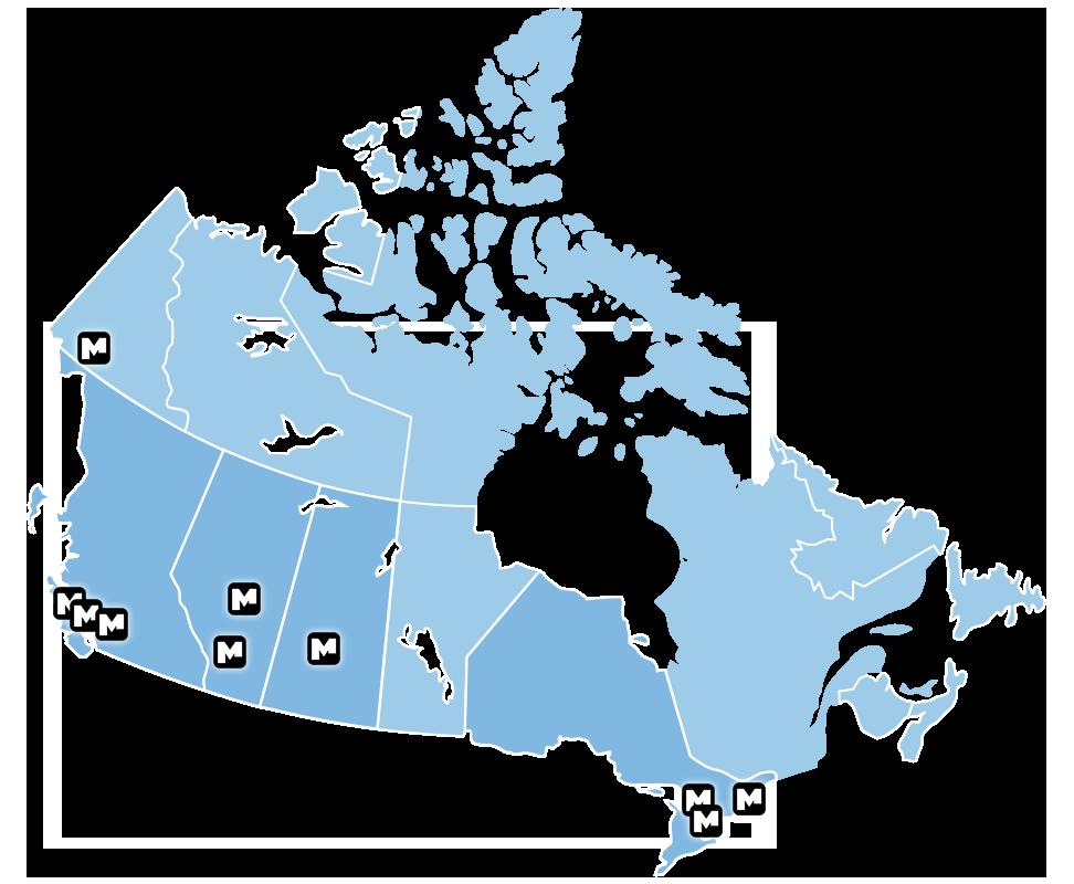 MSP Corp Locations Map